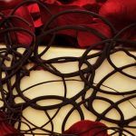 Lattice - dark chocolate and roses